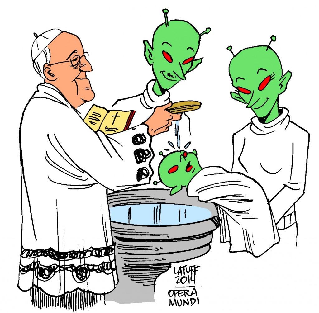 Bergoglio rifiuta ogni proselitismo presso gli uomini, ma battezza e ammette nella Chiesa i marziani (i sacramenti vanno dati a chi li chieda, anche ai marzi