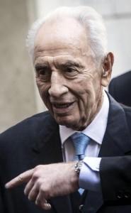 Shimon Peres all'Osteria Der Belli a Trastevere