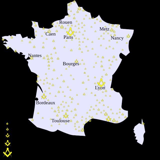 mappa logge massoniche
