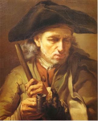 Mendicante cieco. Olio su tela del 1771 di Gaetano Gandolfi (S. Matteo di Decima, 1734 - Bologna, 1802)