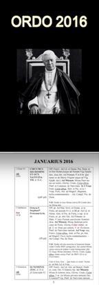 Ordo 2016 St. Pius X Rubrics