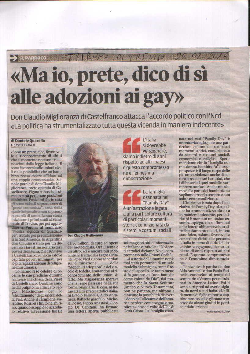 tribuna prete si adozioni gay