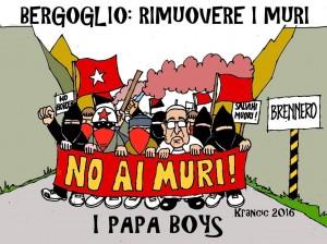 BERGOLIO TOGLI I MURI