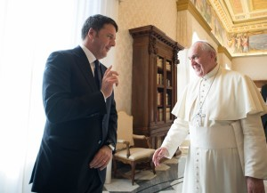 Pope Francis meets Renzi