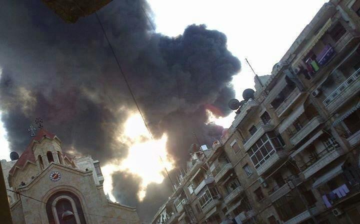 Aleppo missile accanto chiesa