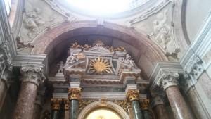 accecamento dei giudei) e altra che raffigura la Chiesa. Duomo di Verona, Cappella della Madonna del Popolo