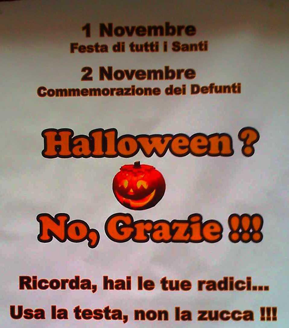 Perche Non Festeggiare Halloween.Perche Non Partecipare A Halloween Www Agerecontra It