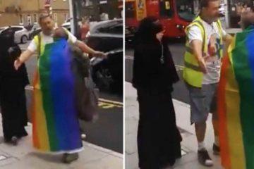 L'islamica in niqab non tollera il gay: sinistra in tilt